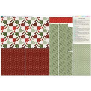 Hunters Star Complete Christmas Tote Bag Fabric Panel (140 x 96cm)
