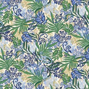 Marisol Leaf Allover Green Fabric 0.5m