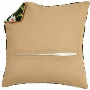 Cushion Back with Pre inserted Zip: Natural: 45x45cm (18x18in)