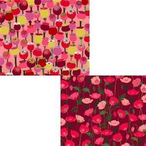 Under £15 Garden Passion Poppies Fabric Bundle (1m)