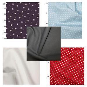 Navy & Red Baby Playmat Bundle, FQ (4pcs) & Fabric (1.5m)