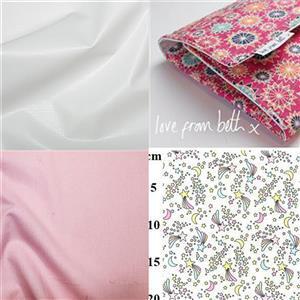 Shooting Stars Baby Changer Kit, Pattern, Fabric (2m) & Nursery Sheeting Fabric (0.5m)