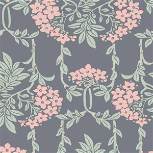 Liberty Hesketh House Collection in Gray Nouveau Mayflower Fabric 0.5m