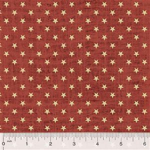Kingston Stars on Rouge Fabric 0.5m