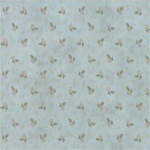 Moda Daybreak Falling Leaves Dewdrop on Blue Fabric 0.5m
