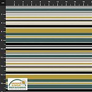 Alavana Jersey in Green Stripey Fabric 0.5m
