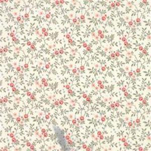 Moda Daybreak Nest Dawn on White Fabric 0.5m