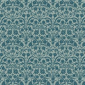 Liberty Bankart Silhouette in Teal Fabric from Winterbourne House Range 0.5m