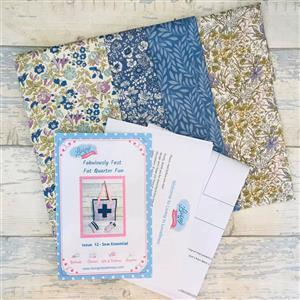 Living in Loveliness Fabulously Fast Fat Quarter Fun Issue 12 Sew Essential Liberty English Garden