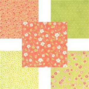 Moda Strawberries & Rhubarb Green Fabric Bundle (2.5m)