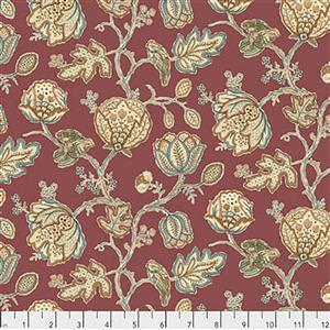 William Morris Orkney Theodesia Red Fabric 0.5m