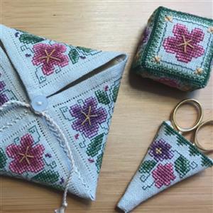 Cross Stitch Guild Pastel Posy Trio Kit