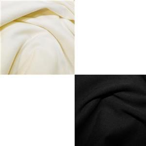 Black & Ivory Soft Touch Jersey Fabric Bundle (2.5m)