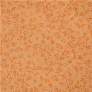 Gradiente Floral Outlines On Yellow Fabric 0.5m