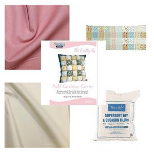 Wendy Orlando's Blush Puff Cushion Kit - Instructions, Panel, Fabric (1.5m) & Stuffing
