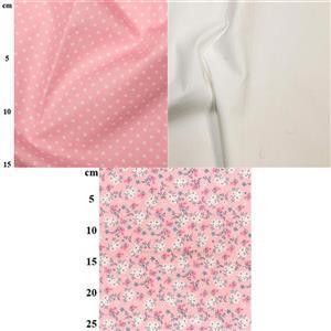 Floral & Spot Pink Fabric Bundle (1.5m)