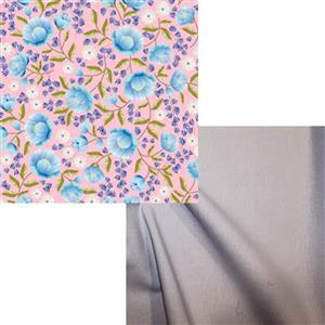 Pink Floral & Chambray Fabric Bundle (1m)
