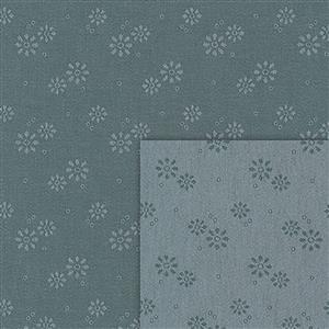 Stof Sevilla Jacquard Circles Coal-Grey Fabric 0.5m