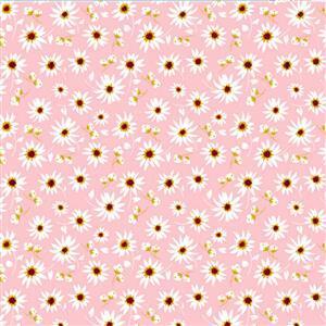 Poppie Cotton Farmgirls Unite City Bound On Pink Fabric 0.5m