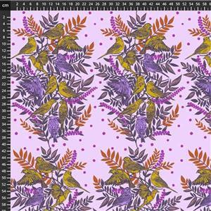 Anna Maria Horner Bright Eyes in Visitation Lilac Fabric 0.5m