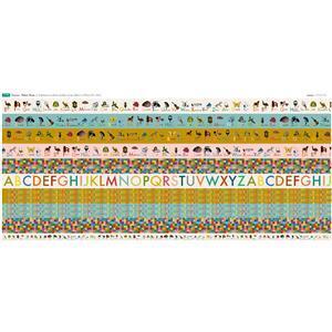 Vintage Alphabet Strips Large Fabric Panel (140 x 123cm)