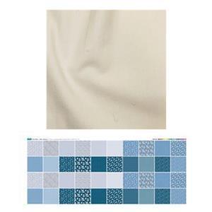 Misty Blue Spring Bench Pillow Bundle: Fabric Panel & Fabric (0.5m)