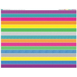 Bright Full Strips Fabric Panel 140cm x 110cm Exclusive.