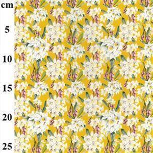 Mustard Floral Cotton Wrap Skirt Fabric Bundle (4m)