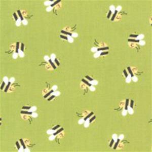 Moda Hello Sunshine in Green Bees Fabric 0.5m