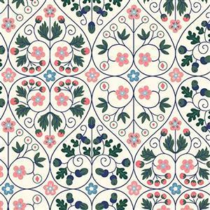 Liberty Orchard Garden Collection Pink Garden Gates Fabric 0.5m