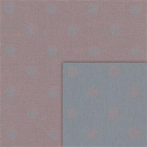 Stof Sevilla Jacquard Circles Pink-Grey Fabric 0.5m