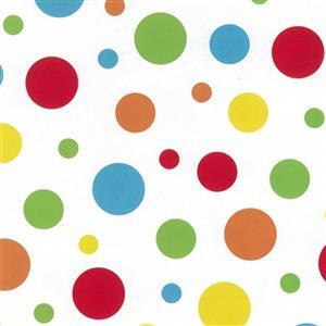 Coloured Spots On White Extra Wide Backing Fabric 0.5m