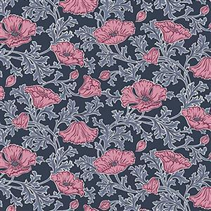 Liberty Beatrice Poppy in Pink Fabric from Winterbourne House Range 0.5m