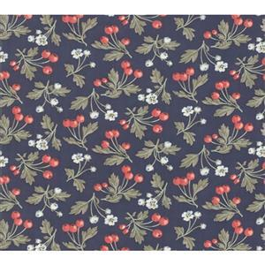 Moda Daybreak Fruitful Evening on Navy Fabric 0.5m