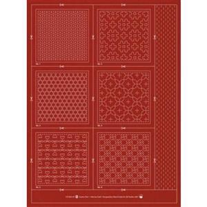 Sashiko & Hitome-Sashi Brick Colour Geo 1 Coaster Pack Of 6