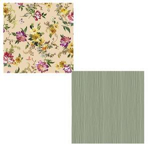 Victoria's Garden Daffodils Storage Basket Bundle: Fabric (1m)