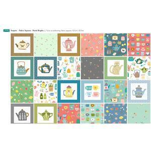 Bright Time for Tea 40 Squares Fabric Panel (140 x 62cm)