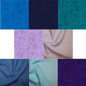 Purples and Blues Fabric Bundle (4m)