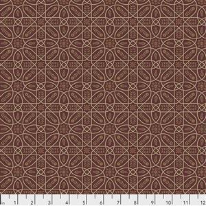 William Morris Orkney Brophy Trellis Red Fabric 0.5m