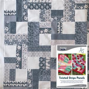 Allison Maryon's Blue Twisted Quilt Kit, Instructions, Panel & Fabric (1m)