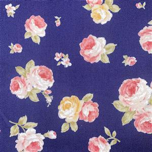 Floral Story Tossed Roses On Navy Fabric 0.5m - Sewing Street exclusive