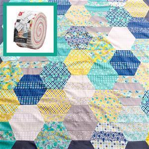 Moda Sophie Honeycomb Quilt Bundle: Design Roll & Fabric (2m). Get half a metre free.