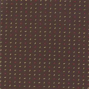 Moda Glad Tidings Brown Motif Fabric 0.5m
