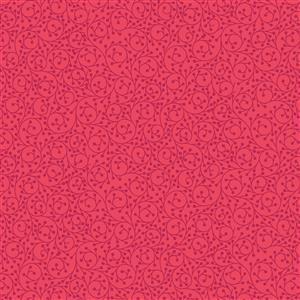 Lewis & Irene in Swirls Red Fabric 0.5m