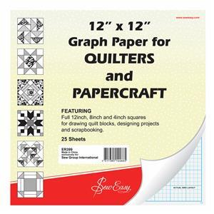 Sew Easy Quilter's Graph Paper 30x30cm