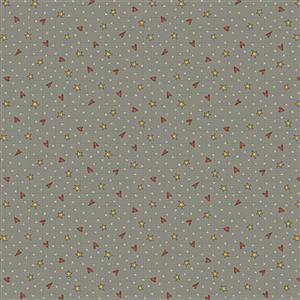 Anni Down On the 12th Heart and Stars Blue Fabric 0.5m
