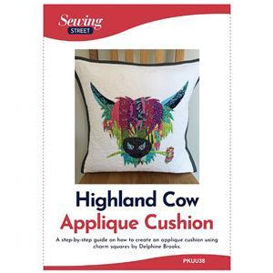 Delphine Brooks Highland Cow Applique Cushion Instructions