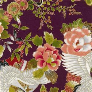 Tokiwa in Purple Metallic Fabric 0.5m