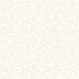 Liberty Wiltshire Shadow Collection Oyster White Fabric 0.5m