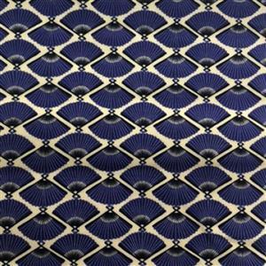 Japanese Fans Blue Fabric 0.5m